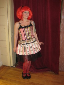 Jackie Olivia - Handmade dress constructed out of used playing cards