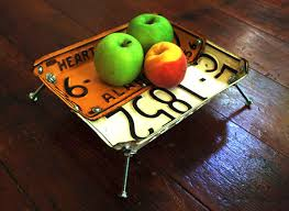 recycled fruit plate